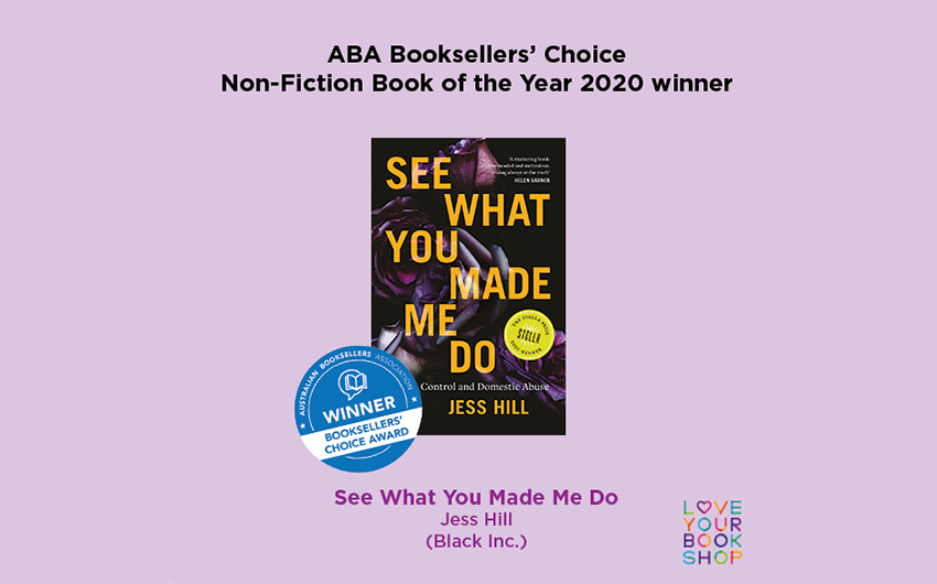 See What You Made Me Do wins ABA Booksellers' Choice Award